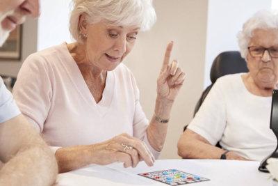 elders playing board games